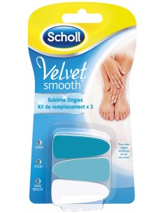 SCHOLL VELVET SMOOTH RECHARGES