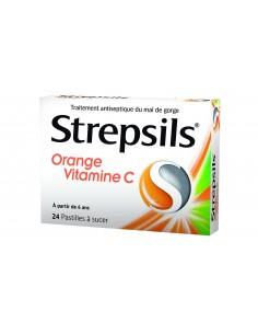 STREPSILS Pastilles Orange et Vitamine C