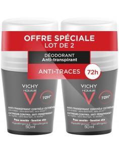 VICHY HOMME déodorant à bille anti-trace x2