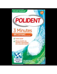 POLIDENT comprimés nettoyants 3 minutes