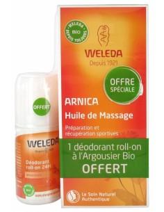 WELEDA Huile de massage à l'arnica + déodorant argousier Offert