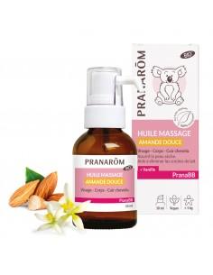 PRANAROM PRANABB Huile de massage Amande douce Bio
