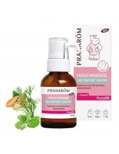 PRANAROM PRANABB Huile de massage réconfort ventre Bio