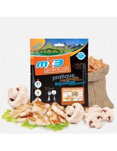 MX3 poulet & pâtes à la crème et aux champignons lyophilisé
