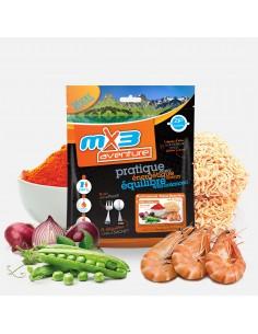 MX3 nouilles chinoises au curry rouge et crevettes lyophilisé
