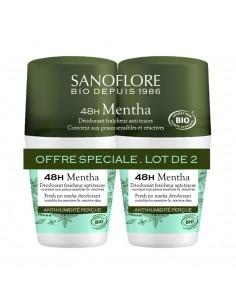 SANOFLORE Lot de 2 déodorants fraicheur menthe