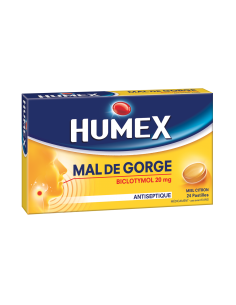 HUMEX Pastilles Biclotymol Miel Citron