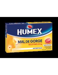 HUMEX Pastilles Biclotymol Fruits Rouges sans sucre