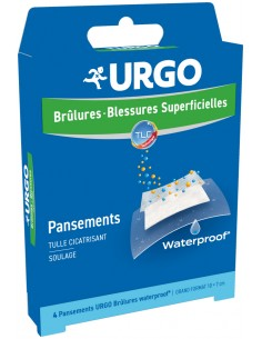 URGO Brûlures waterproof pansements 10x7cm