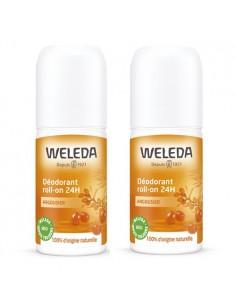 WELEDA Duo déodorant Roll-on 24h Argousier