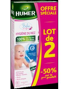 Lot de 2 HUMER Hygiène du nez enfants et nourrissons