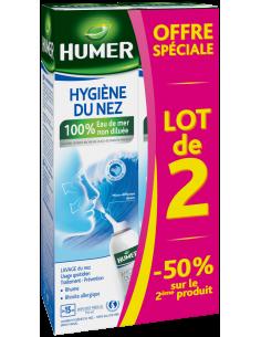 Lot de 2 HUMER Hygiène du nez Adulte