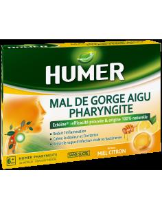 HUMER PHARYNGITE Miel Citron