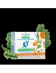 PURESSENTIEL Pastilles Respiratoire aux 3 miels aromatiques