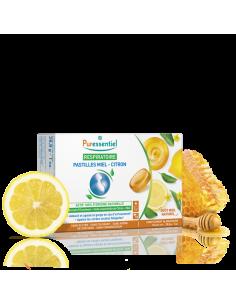 PURESSENTIEL Pastilles Respiratoire Gorge Miel-Citron