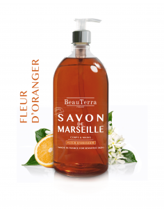 BEAUTERRA Savon de marseille liquide Fleur d'Oranger