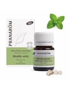 PRANAROM Perles d'huile essentielle Menthe verte bio