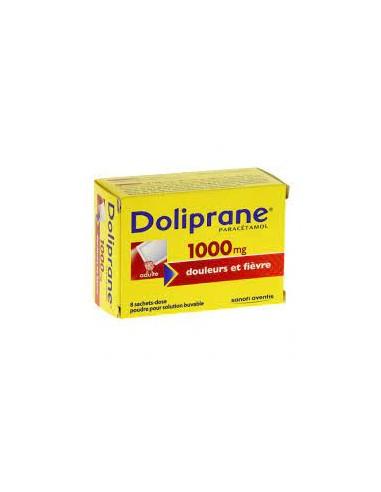 DOLIPRANE 1000 mg 8 Sachets-dose