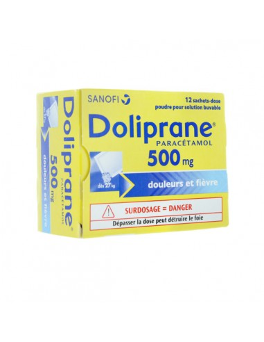 DOLIPRANE 500 mg 12 sachets-dose